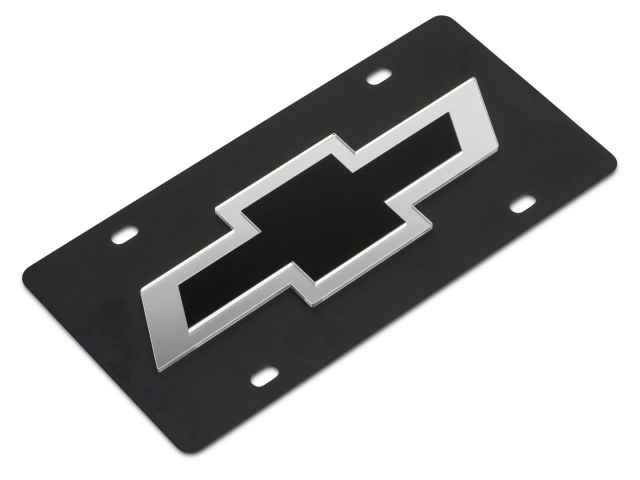 SpeedForm Carbon Steel License Plate w/ Black Bowtie Logo (99-18 Silverado 1500)