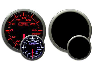 Prosport Dual Color Premium Boost Gauge - Electrical - Amber/White (99-18 Silverado 1500)