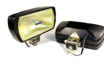Delta 8x4 in. 220 Series Black Xenon Amber Fog Lights - Pair