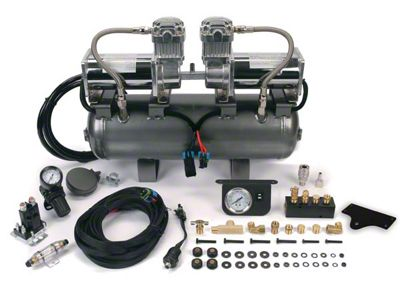 Viair 2on2 Bolt-On Platform High-Pressure Onboard Air System (99-19 Silverado 1500)