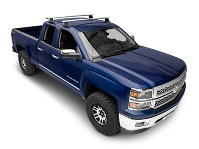 Rhino-Rack Vortex 2500 2-Bar Roof Rack - Silver (14-18 Silverado 1500 Double Cab, Crew Cab)