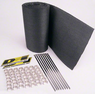 DEI Speed Sleeves Exhaust Wrap Jackets - Black (99-18 Silverado 1500)