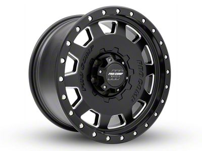 Pro Comp Hammer Satin Black Milled 6-Lug Wheel - 17x9 (99-18 Silverado 1500)