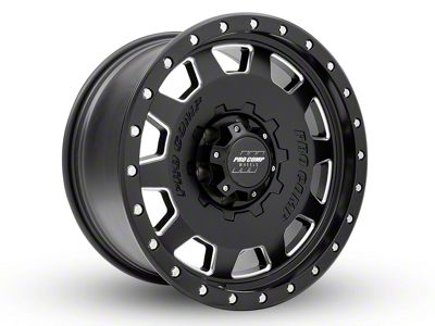 Pro Comp Wheels Hammer Satin Black Milled 6-Lug Wheel - 18x9 (99-19 Silverado 1500)