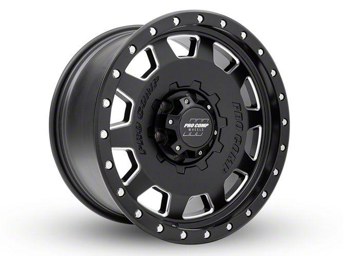Pro Comp Hammer Satin Black Milled 6-Lug Wheel - 18x9 (99-18 Silverado 1500)