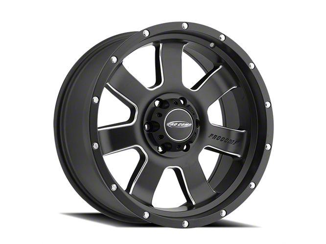Pro Comp Inertia Satin Black Milled 6-Lug Wheel - 17x9 (99-18 Silverado 1500)