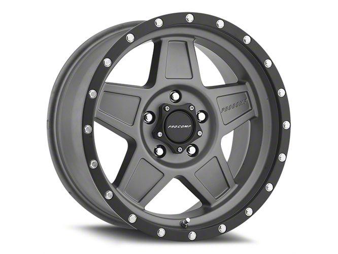 Pro Comp Predator Matte Graphite 6-Lug Wheel - 17x8.5 (99-18 Silverado 1500)