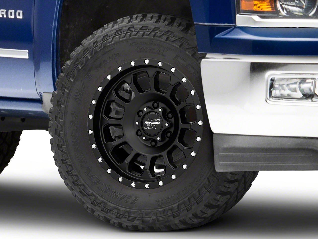 Pro Comp Rockwell Satin Black 6-Lug Wheel - 18x9 (99-18 Silverado 1500)