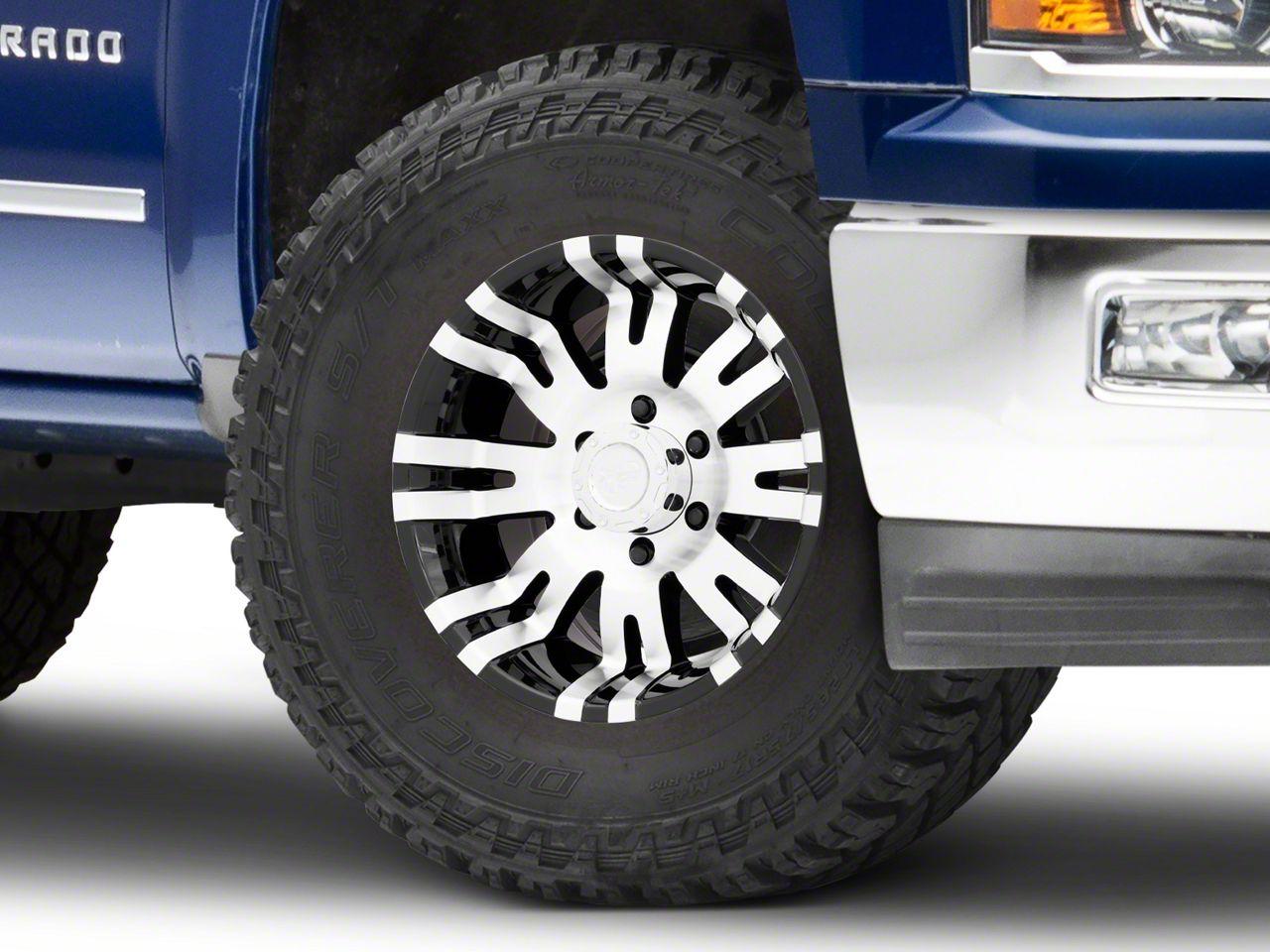 Pro Comp Series 8101 Gloss Black Machined 6-Lug Wheel - 17x8 (99-18 Silverado 1500)