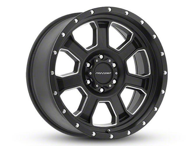 Pro Comp Sledge Satin Black Milled 6-Lug Wheel - 17x9 (99-18 Silverado 1500)