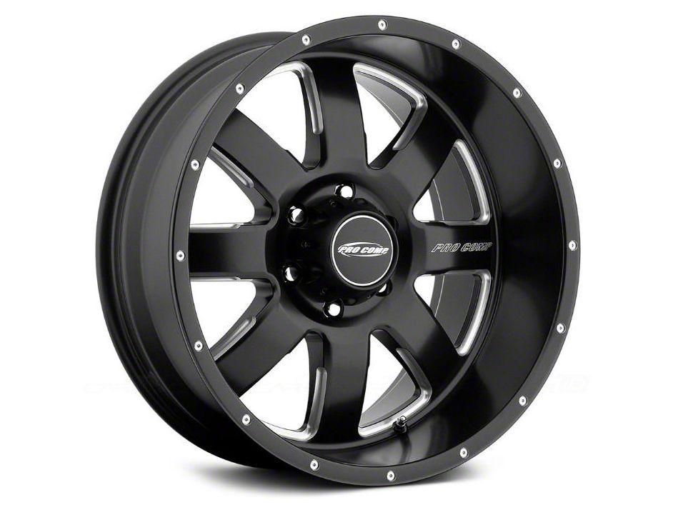 Pro Comp Vapor Satin Black Milled 6-Lug Wheel - 20x9.5 (99-18 Silverado 1500)