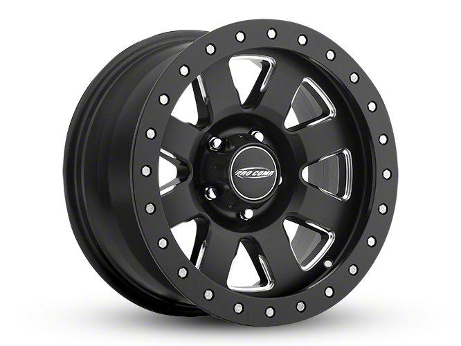 Pro Comp Vapro Pro Satin Black Milled 6-Lug Wheel - 17x9 (99-18 Silverado 1500)