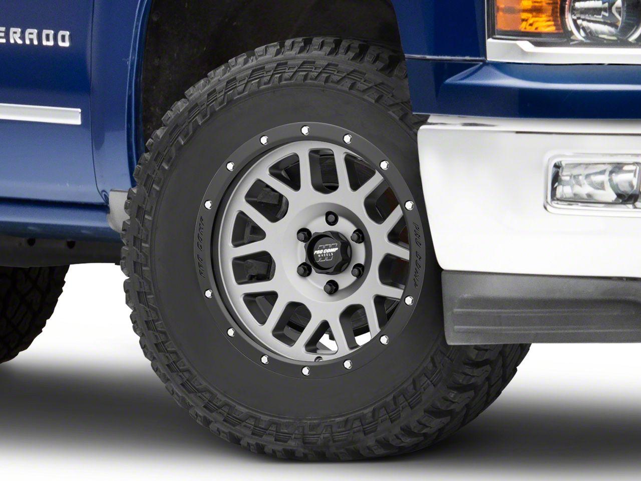 Pro Comp Vertigo Matte Graphite 6-Lug Wheel - 18x9 (99-18 Silverado 1500)