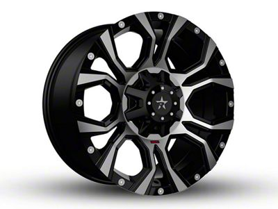 RBP 64R Widow Black Machined 6-Lug Wheel - 20x12 (99-18 Silverado 1500)