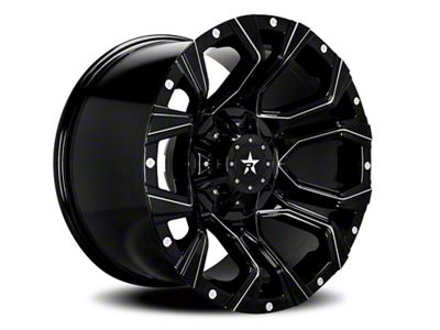 RBP 64R Widow Gloss Black Machined 6-Lug Wheel - 20x12 (99-18 Silverado 1500)