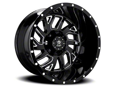 RBP 65R Glock Gloss Black w/ Machined Grooves 6-Lug Wheel - 20x12 (99-18 Silverado 1500)