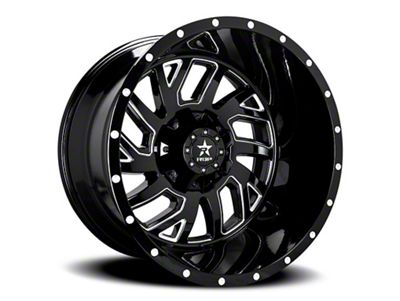 RBP 65R Glock Gloss Black w/ Machined Grooves 6-Lug Wheel - 22x12 (99-18 Silverado 1500)