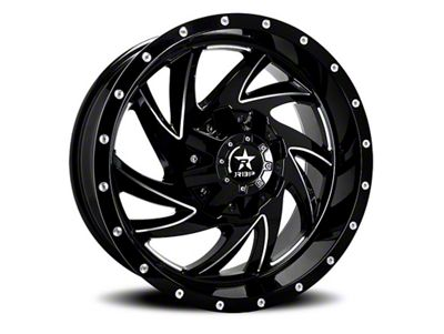 RBP 66R HK-5 Gloss Black w/ Machined Grooves 6-Lug Wheel - 20x12 (99-18 Silverado 1500)