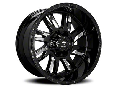 RBP 69R Swat Black w/ Chrome Inserts 6-Lug Wheel - 20x12 (99-18 Silverado 1500)