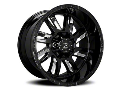 RBP 69R Swat Black w/ Chrome Inserts 6-Lug Wheel - 22x12 (99-18 Silverado 1500)