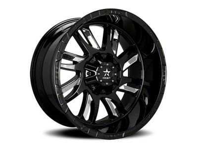 RBP 69R Swat Black w/ Chrome Inserts 6-Lug Wheel - 24x14 (99-18 Silverado 1500)
