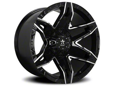 RBP 70R Quantum Gloss Black w/ Machined Grooves 6-Lug Wheel - 20x12 (99-18 Silverado 1500)
