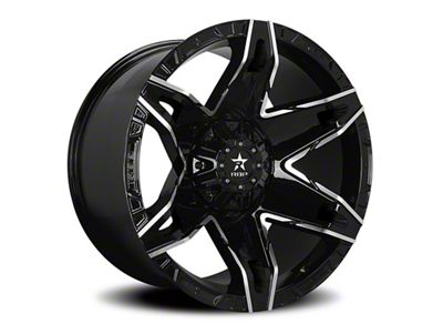 RBP 70R Quantum Gloss Black w/ Machined Grooves 6-Lug Wheel - 22x12 (99-18 Silverado 1500)