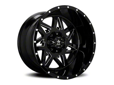 RBP 71R Avenger Gloss Black w/ Machined Grooves 6-Lug Wheel - 20x12 (99-18 Silverado 1500)