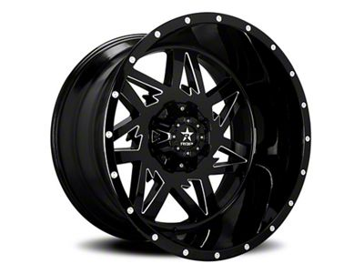 RBP 71R Avenger Gloss Black w/ Machined Grooves 6-Lug Wheel - 22x12 (99-18 Silverado 1500)