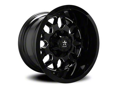 RBP 73R Atomic Gloss Black w/ Machined Grooves 6-Lug Wheel - 24x14 (99-18 Silverado 1500)