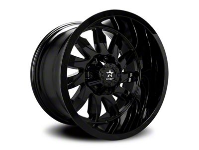 RBP 74R Silencer Gloss Black 6-Lug Wheel - 20x12 (99-18 Silverado 1500)