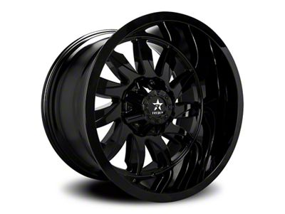RBP 74R Silencer Gloss Black 6-Lug Wheel - 22x12 (99-18 Silverado 1500)