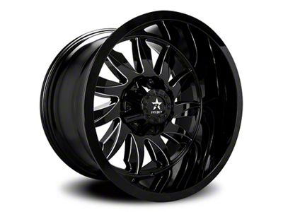 RBP 74R Silencer Gloss Black w/ Machined Grooves 6-Lug Wheel - 22x12 (99-18 Silverado 1500)