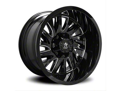 RBP 75R Batallion Gloss Black 6-Lug Wheel - 20x12 (99-18 Silverado 1500)