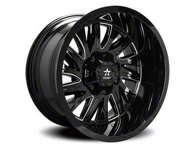 RBP 75R Batallion Gloss Black w/ Machined Grooves 6-Lug Wheel - 22x12 (99-18 Silverado 1500)