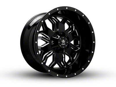 RBP 87R Blade Gloss Black w/ Machined Grooves 6-Lug Wheel - 20x12 (99-18 Silverado 1500)