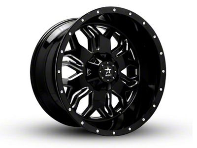 RBP 87R Blade Gloss Black w/ Machined Grooves 6-Lug Wheel - 22x12 (99-18 Silverado 1500)