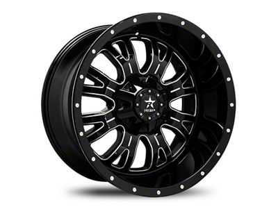 RBP 89R Assassin Gloss Black w/ Machined Grooves 6-Lug Wheel - 20x12 (99-18 Silverado 1500)