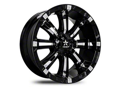 RBP 94R Black w/ Chrome Inserts 6-Lug Wheel - 22x12 (99-18 Silverado 1500)