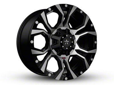 RBP 64R Widow Black Machined 6-Lug Wheel - 18x9 (99-18 Silverado 1500)