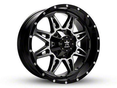 RBP 67R AK-8 Black Machined 6-Lug Wheel - 20x9 (99-18 Silverado 1500)