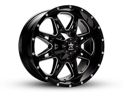 RBP 67R AK-8 Gloss Black w/ Machined Grooves 6-Lug Wheel - 20x9 (99-18 Silverado 1500)