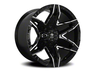 RBP 70R Quantum Gloss Black w/ Machined Grooves 6-Lug Wheel - 20x10 (99-18 Silverado 1500)