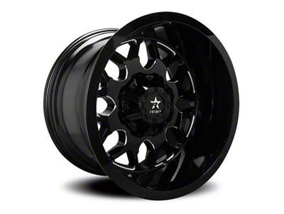RBP 73R Atomic Gloss Black w/ Machined Grooves 6-Lug Wheel - 20x10 (99-18 Silverado 1500)