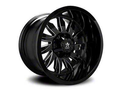 RBP 74R Silencer Gloss Black w/ Machined Grooves 6-Lug Wheel - 20x10 (99-18 Silverado 1500)
