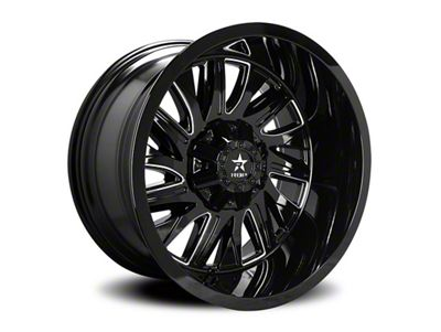 RBP 75R Batallion Gloss Black w/ Machined Grooves 6-Lug Wheel - 20x9 (99-18 Silverado 1500)