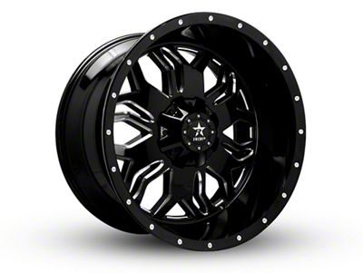 RBP 87R Blade Gloss Black w/ Machined Grooves 6-Lug Wheel - 24x12 (99-18 Silverado 1500)