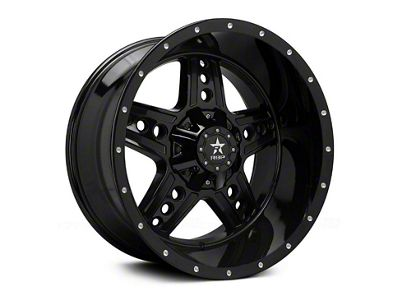 RBP 90R Colt Gloss Black w/ Machined Grooves 6-Lug Wheel - 22x12 (99-18 Silverado 1500)