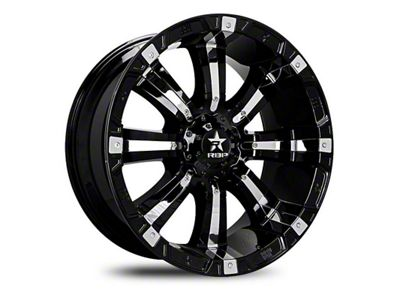 RBP 94R Black w/ Chrome Inserts 6-Lug Wheel - 22x10 (99-18 Silverado 1500)