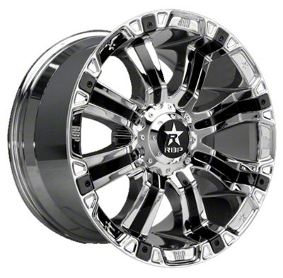 RBP 94R Chrome w/ Black Inserts 6-Lug Wheel - 22x10 (99-18 Silverado 1500)